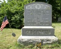 William & Carrie (McNeil) Haseltine monument