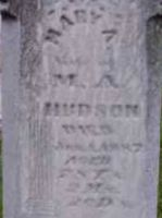 Mary A. (Baker) Hudson gravestone - close