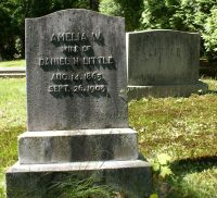 Amelia Worth (Bradley) Little gravestone