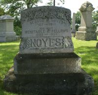 George W. & Mehitable A. (Fellows) Noyes gravestone
