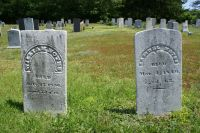 William & Samuel W. Noyes gravestones