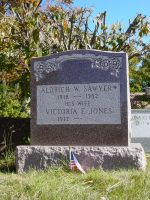 Aldrich Weare & Victoria E. (Jones) Sawyer monument